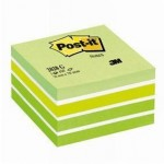 Post-it kubus aquarelle groen 76 x 76 mm